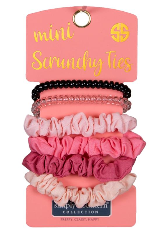 ***Simply Southern Mini Scrunchies Ties Pink