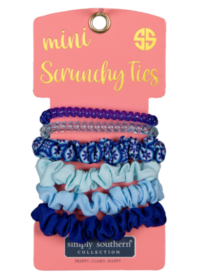 ***Simply Southern Mini Scrunchies Ties Ogee