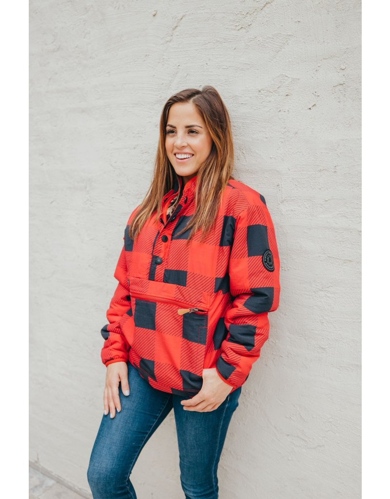 ***Simply Southern Reversible Pullover Buffalo Plaid
