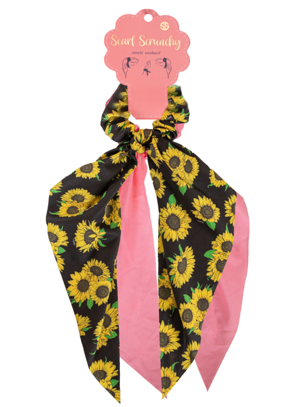 ***Simply Southern Sunflower Scarf Scrunchy