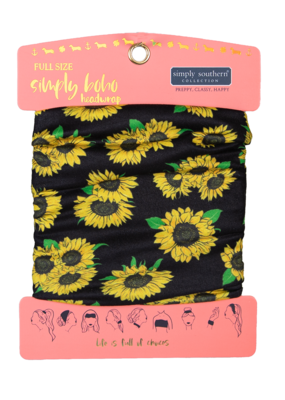***Simply Southern Boho Headwrap Sunflower