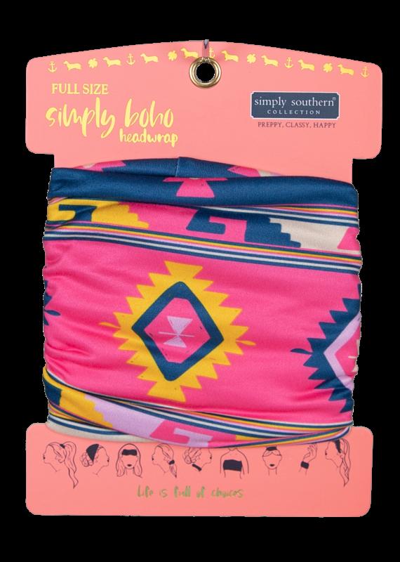 ***Simply Southern Boho Headwrap Aztec
