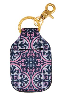 ***Simply Southern Key Chain Hand Sanitizer Pouch Damask