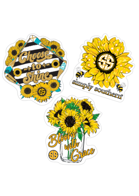 ***Simply Southern Stickers Sunflower