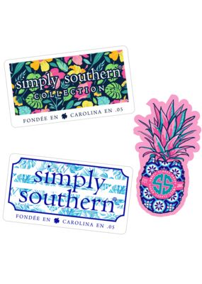 ***Simply Southern Stickers Tropical