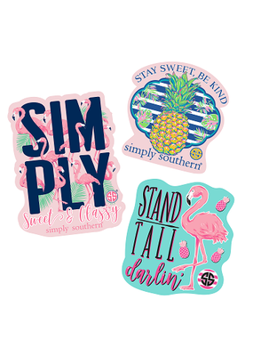***Simply Southern Stickers Flamingo