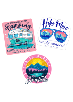 ***Simply Southern Stickers Camping