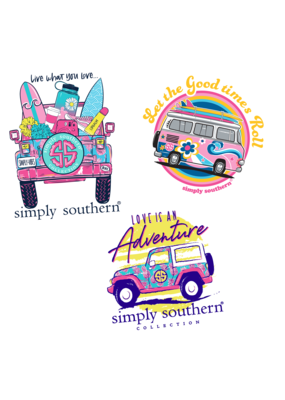 ***Simply Southern Stickers Car
