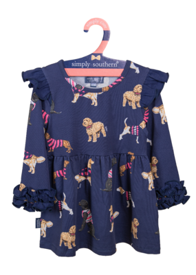 ***Simply Southern Toddler Ruffle Dress Dog
