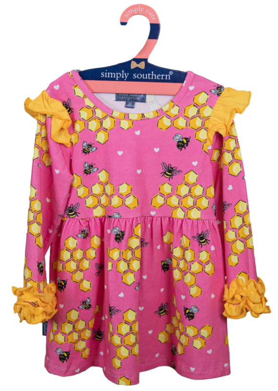 ***Simply Southern Toddler Ruffle Dress Bees