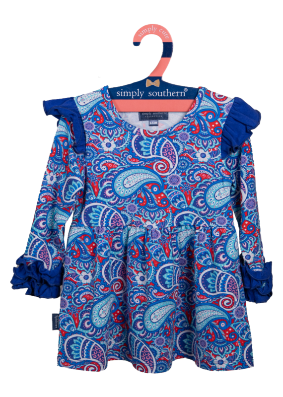 ***Simply Southern Toddler Ruffle Dress Paisley