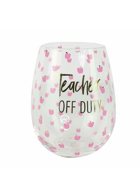 Mary Square ****Teacher Off Duty Stemless Wine Cup