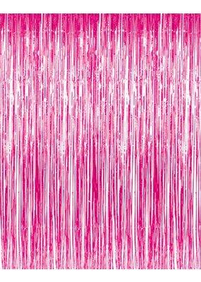 ****Hot Pink Doorway Fringe Curtain
