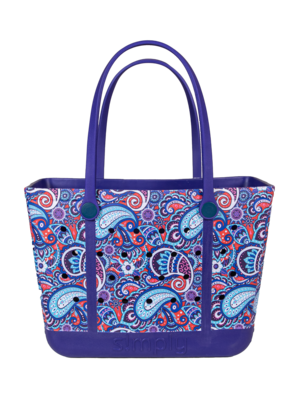 ***Simply Southern Large Waterproof Tote Bag in Paisley EVA