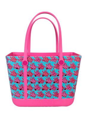 ***Simply Southern Large Waterproof Tote Bag in Turtle EVA