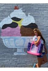 ***Simply Southern Large Waterproof Tote Bag in Turtle EVA