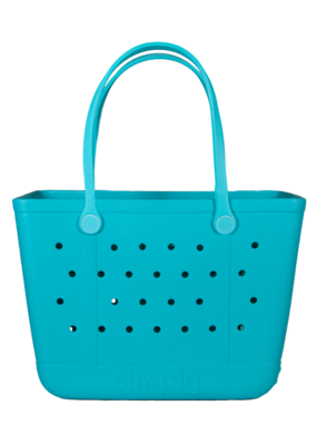 ***Simply Southern Large Waterproof Tote Bag in Blue EVA