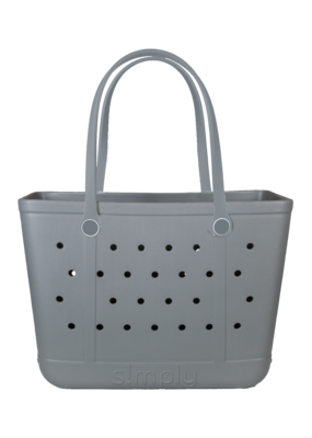 ***Simply Southern Large Waterproof Tote Bag in Gray EVA