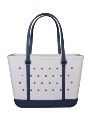 ***Simply Southern Large Waterproof Tote Bag in White EVA