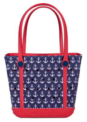 ***Simply Southern Small Waterproof Tote Bag in Anchor EVA