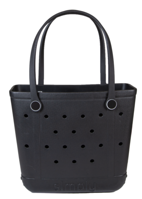 ***Simply Southern Small Waterproof Tote Bag in Black EVA