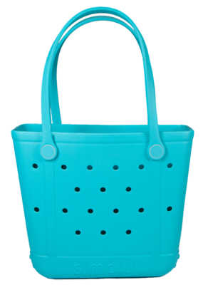 ***Simply Southern Small Waterproof Tote Bag in Blue EVA