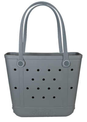 ***Simply Southern Small Waterproof Tote Bag in Gray EVA