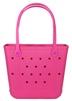 ***Simply Southern Small Waterproof Tote Bag in Pink EVA