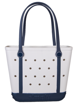 ***Simply Southern Small Waterproof Tote Bag in White EVA