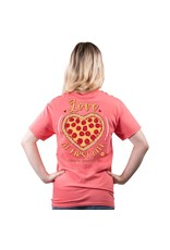 ***Simply Southern Short Sleeve Pizza Coral