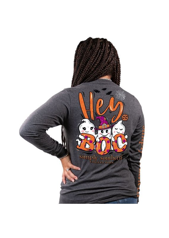 ***Simply Southern Long Sleeve Boo Gray
