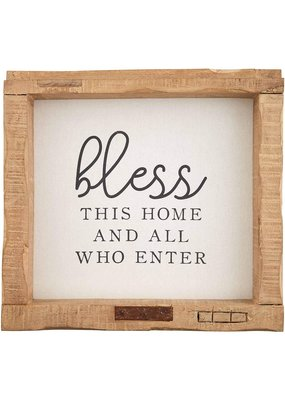 ***Bless This Home and All Who Enter Wood Sign