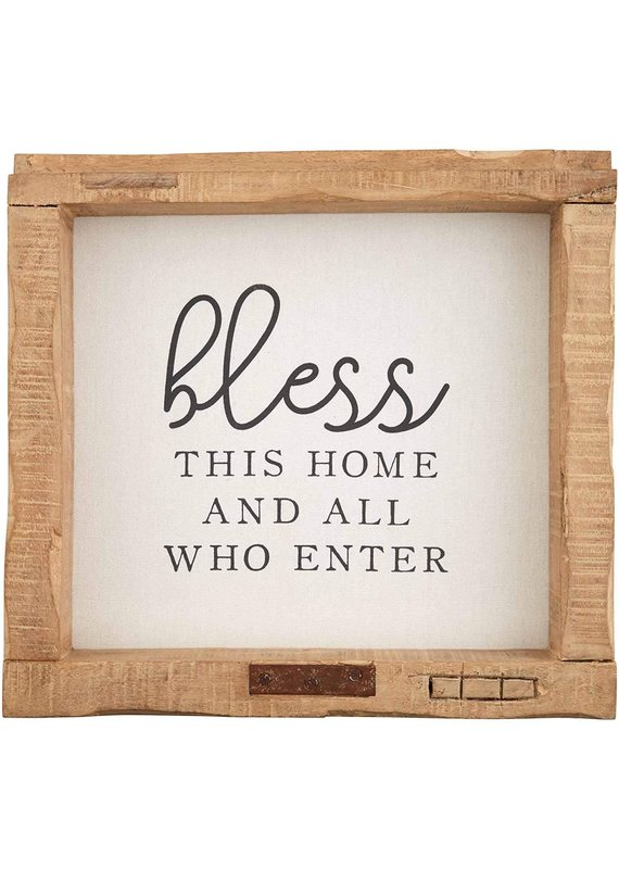 *****Bless This Home and All Who Enter Wood Sign