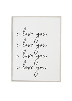 ***I Love You Large Wall Decoration