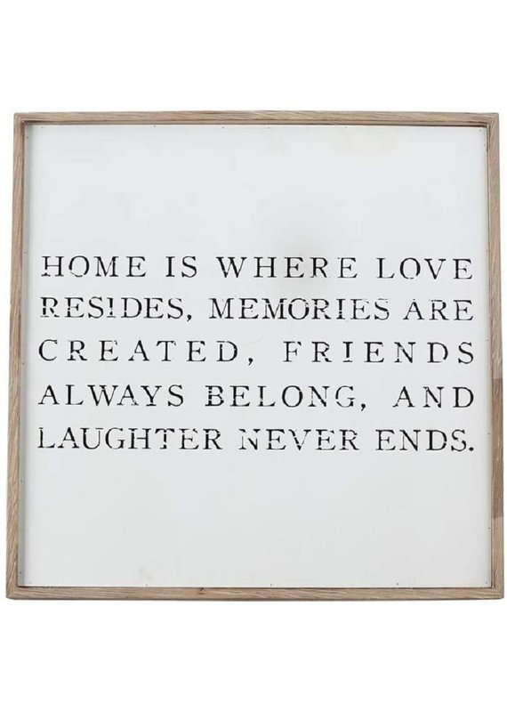 ***Home is Where Love Resides Wood Sign