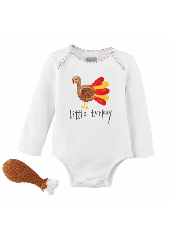 ****Thanksgiving Onesie & Rattle Set (Size 0-6mo)