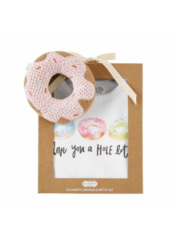 ****Donut Rattle Onesie and Rattle Set (0-6 month)