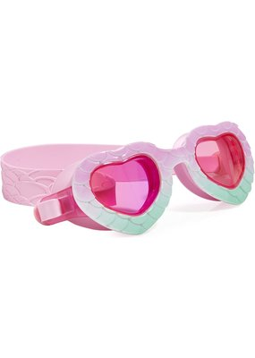 Bling2O ***In the Shade Mermaid Heart Shape Mint to be Pink Swim Goggles