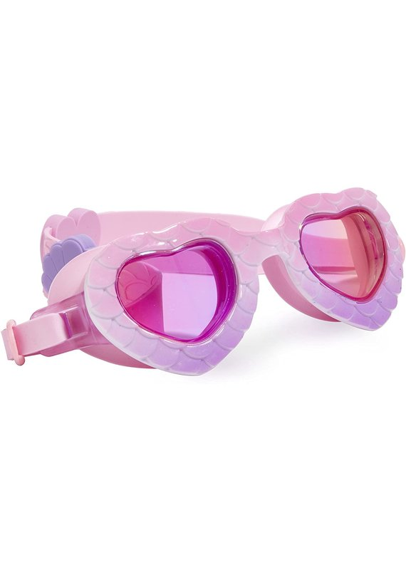 Bling2O ***In the Shade Mermaid Heart Shape Shell Pink Purple Swim Goggles