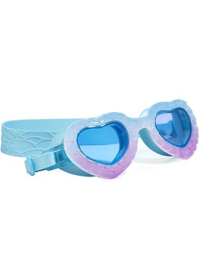 Bling2O ***In the Shade Mermaid Heart Shape Sea Blue Purple Swim Goggles