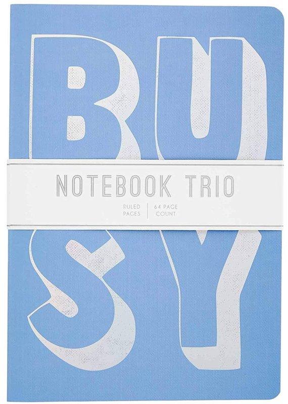 ***Busy Blue Trio Notebooks