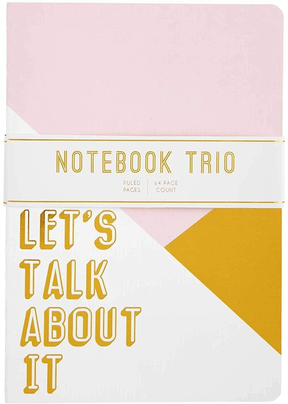 ***Let's Talk About It Blush Trio Notebooks