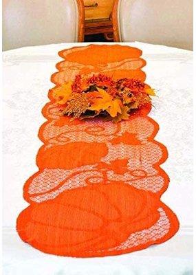 ***Pumpkin Fall Lace Tablerunner