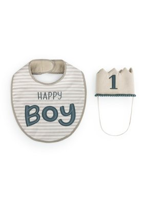 ***Happy 1st Birthday Bib & Hat Set