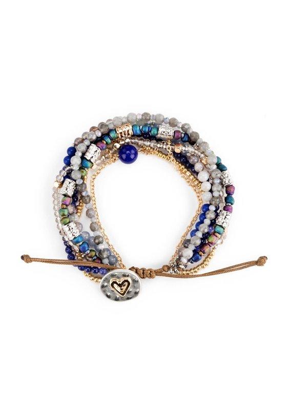 ****Your Journey Beaded Love Bracelet (Indigo)
