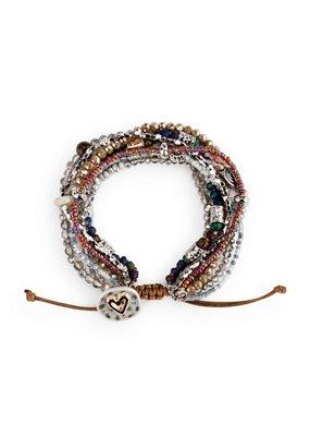 ***Your Journey Beaded Love Bracelet (Gray)