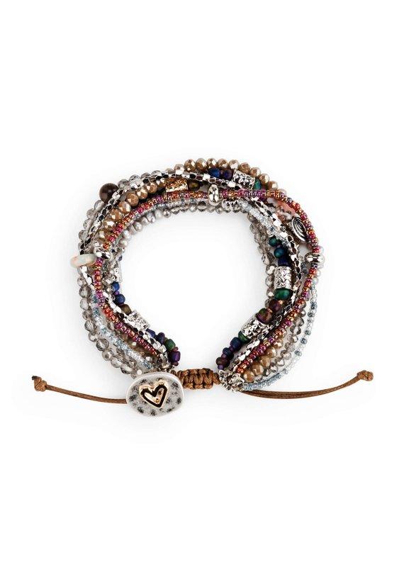 ****Your Journey Beaded Love Bracelet (Gray)
