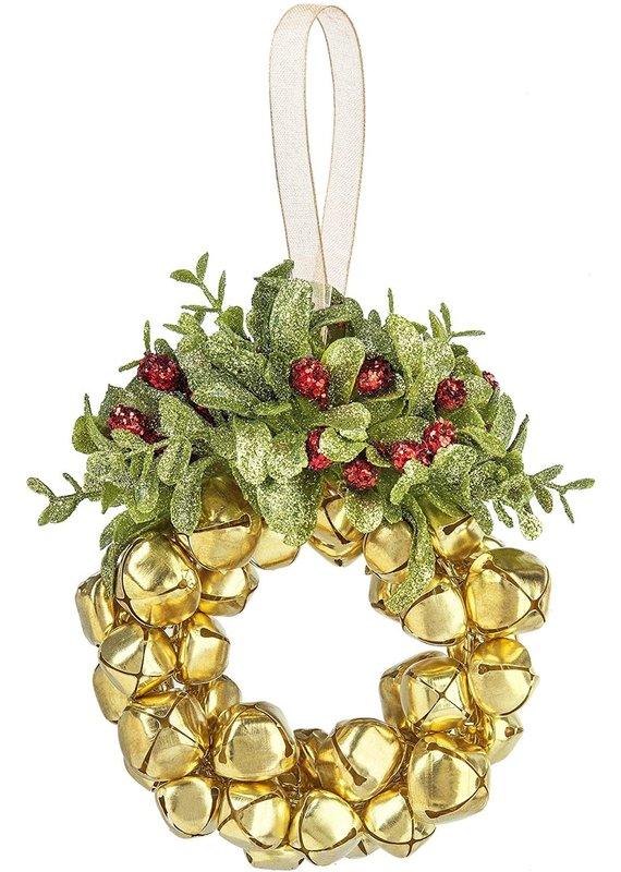 ****Jingle Bell Wreath Kissing Krystal