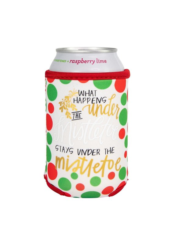 Mary Square ***What Happens Under the Mistletoe Beverage Sleeve