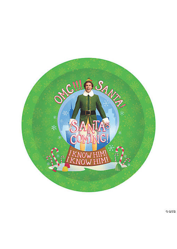 ***The Movie Elf Buddy 9In Plate
